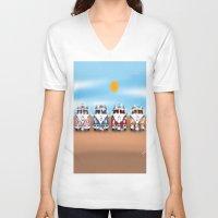vans V-neck T-shirts featuring VW Cammper Vans by Woofer