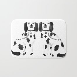 Staffordshire Dogs (Black) Bath Mat