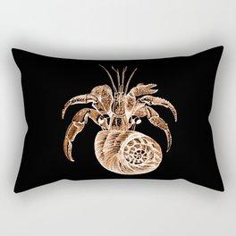 Fish coastal nautical in black background Rectangular Pillow