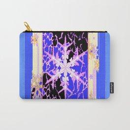"""Frozen"" Blue Snowflake Pattern Art Carry-All Pouch"