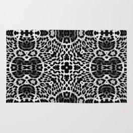 abstract animal print grayscale Rug