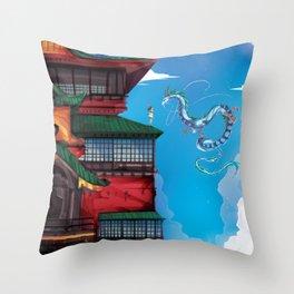 Bath House Throw Pillow