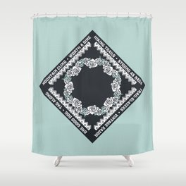 Hiking Trails-Strong as Nails Shower Curtain