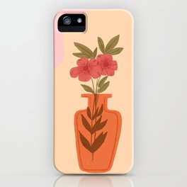 Retro Vintage Flower in Jar iPhone Case
