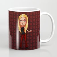 buffy the vampire slayer Mugs featuring Buffy the Heart Slayer by Isaiah K. Stephens