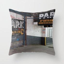 New York Graffiti On Sidewalk Throw Pillow