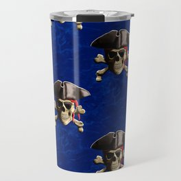 Jolly Roger In Pirate Hat Travel Mug