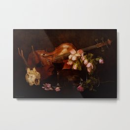Still life with violin  Metal Print