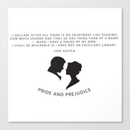 Pride and Prejudice A Canvas Print
