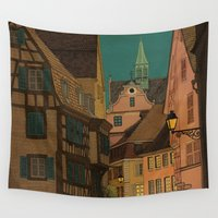 jazzberry Wall Tapestries featuring Evening by Megs stuff