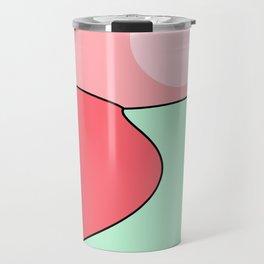 Happy Place - Coral Mint Travel Mug