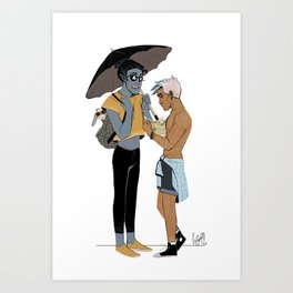 LN summer: Elia and Seb Art Print