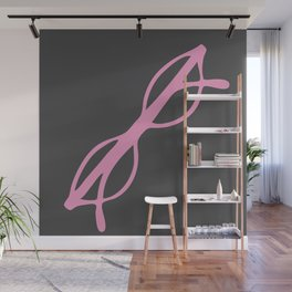 Pink Glasses Wall Mural