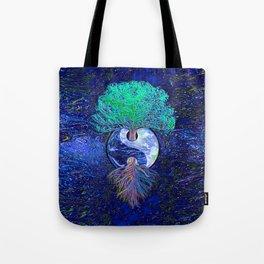 Tree of Life Yin Yang Earth Space Tote Bag