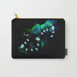 Scorpio Constellation in Turquoise - Star Signs and Birth Stones Carry-All Pouch
