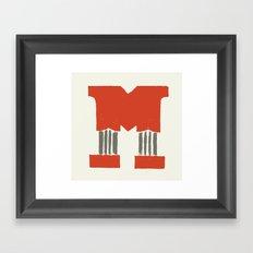 M Lettering Framed Art Print