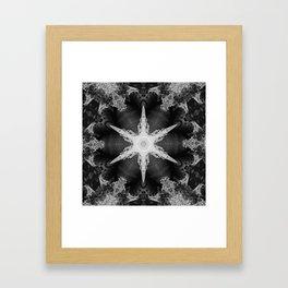Kaleidoscope Train and Trees, Black and White Framed Art Print