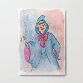 Cinderella Godmother Metal Print