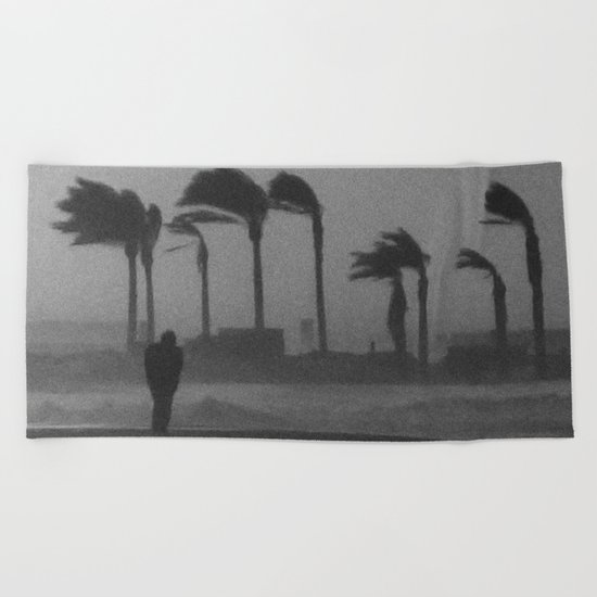 salmo (warning! a lot of noise, grain and sand) Beach Towel