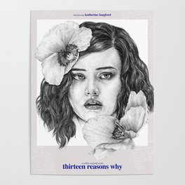13 Reasons Why - TV inspired Art Poster