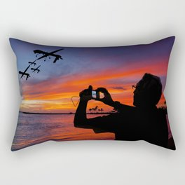 Drone Family Tropical Vacation Rectangular Pillow