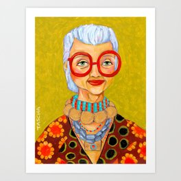 IRIS Apfel New York Fashion Icon Art Print