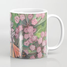 Monarch Butterfly and Milkweed Flowers Coffee Mug