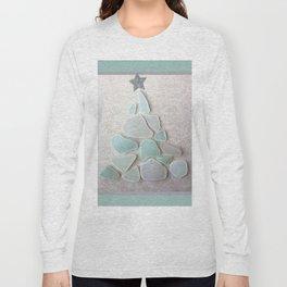 Sea Foam Sea Glass Christmas Tree #Christmas #seaglass Long Sleeve T-shirt