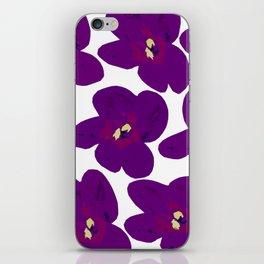 Purple Retro Flowers #decor #society6 #buyart iPhone Skin