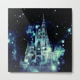 Celestial Palace Teal Turquoise Blue Metal Print