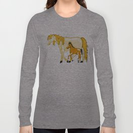 Mare And Foal Love Long Sleeve T-shirt