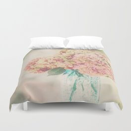 Dreamy Autumn Hydrangea Flowers Still Life Duvet Cover