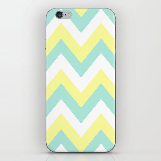MINT & YELLOW CHEVRON iPhone & iPod Skin