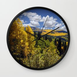 Autumn in New Mexico Wall Clock