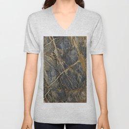 Natural Geological Pattern Rock Texture Unisex V-Neck