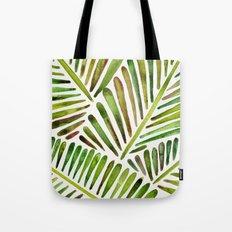 Tropical Banana Leaves – Green Palette Tote Bag