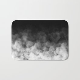 Ombre Black White Clouds Minimal Bath Mat
