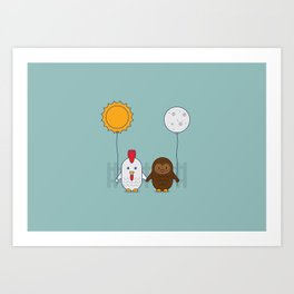 Early Bird & Night Owl Art Print