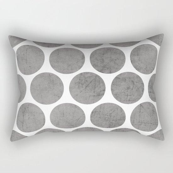 gray polka dots Rectangular Pillow