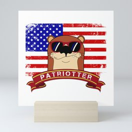 Patriot Patriotic Otter Mini Art Print