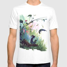 rest MEDIUM Mens Fitted Tee White