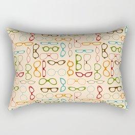 Retro glasses Rectangular Pillow
