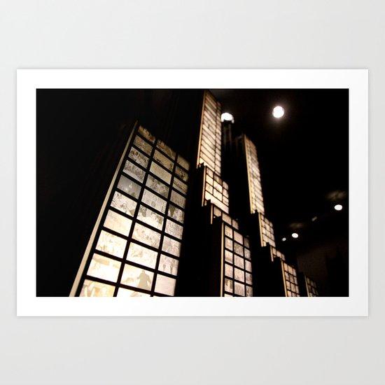 stories of hotel windows Art Print
