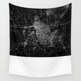 Tulsa map Oklahoma Wall Tapestry