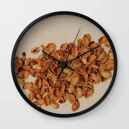 Pistachios after party Wall Clock