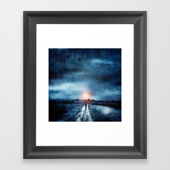 it's raining again Framed Art Print