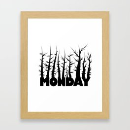 days / monday Framed Art Print