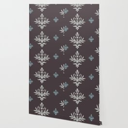 Victorian Brown Pattern Wallpaper