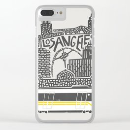 Los Angeles Cityscape Clear iPhone Case