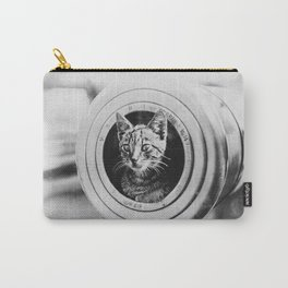 Kitten in a Gun Vintage Photo Carry-All Pouch